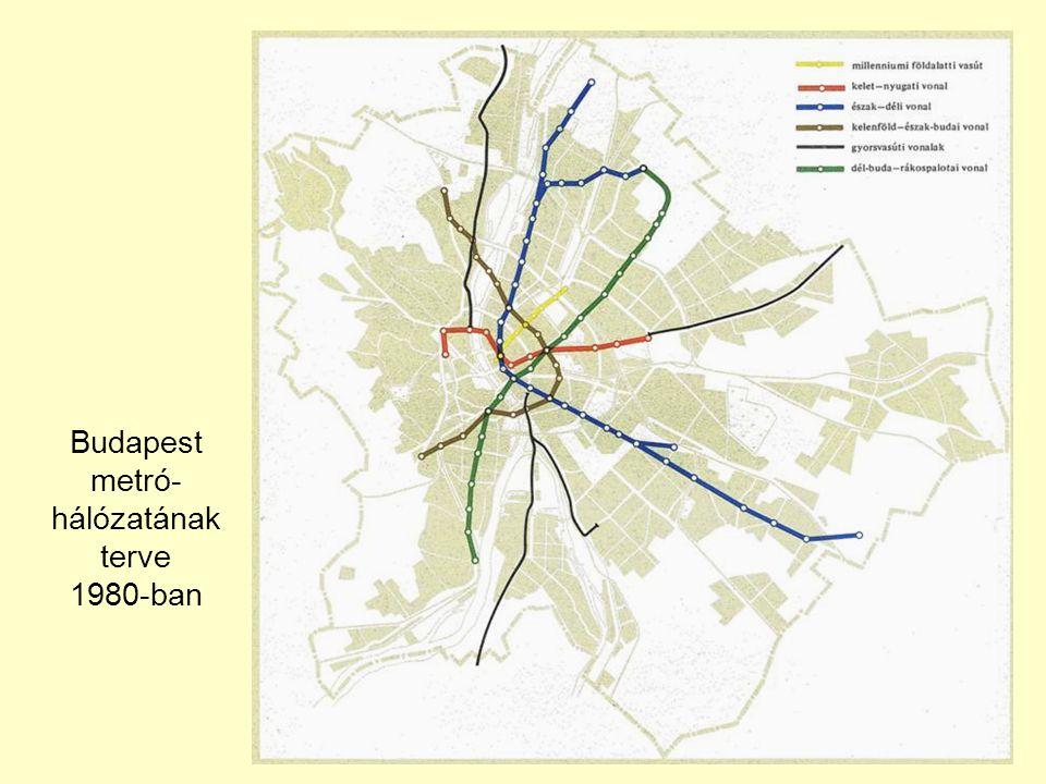 Budapest metró-hálózatának terve 1980-ban