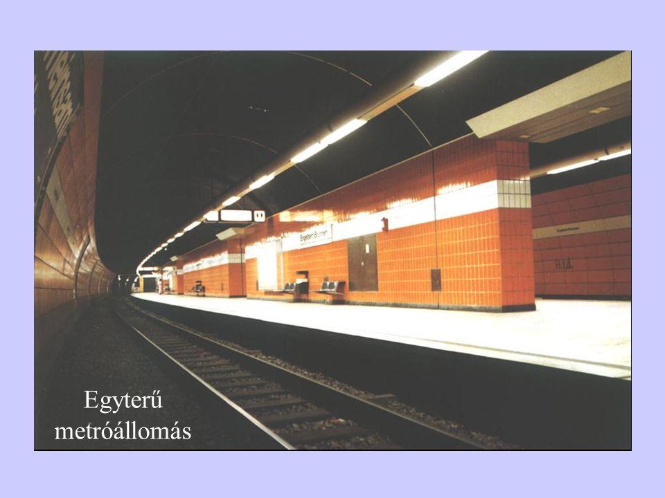 Egyterű metróállomás