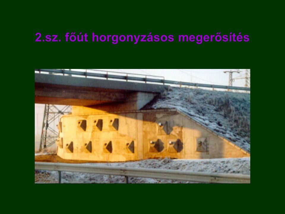 2.sz. főút horgonyzásos megerősítés