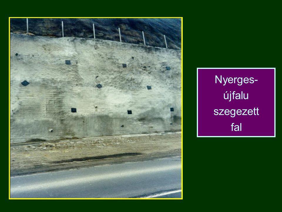 Nyerges- újfalu szegezett fal