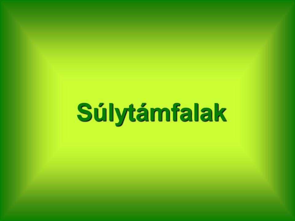 Súlytámfalak