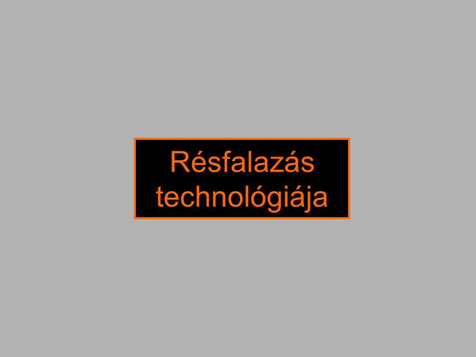 Résfalazás technológiája