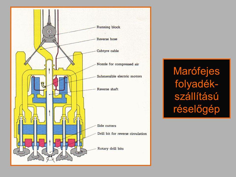 Marófejes folyadék-szállítású réselőgép
