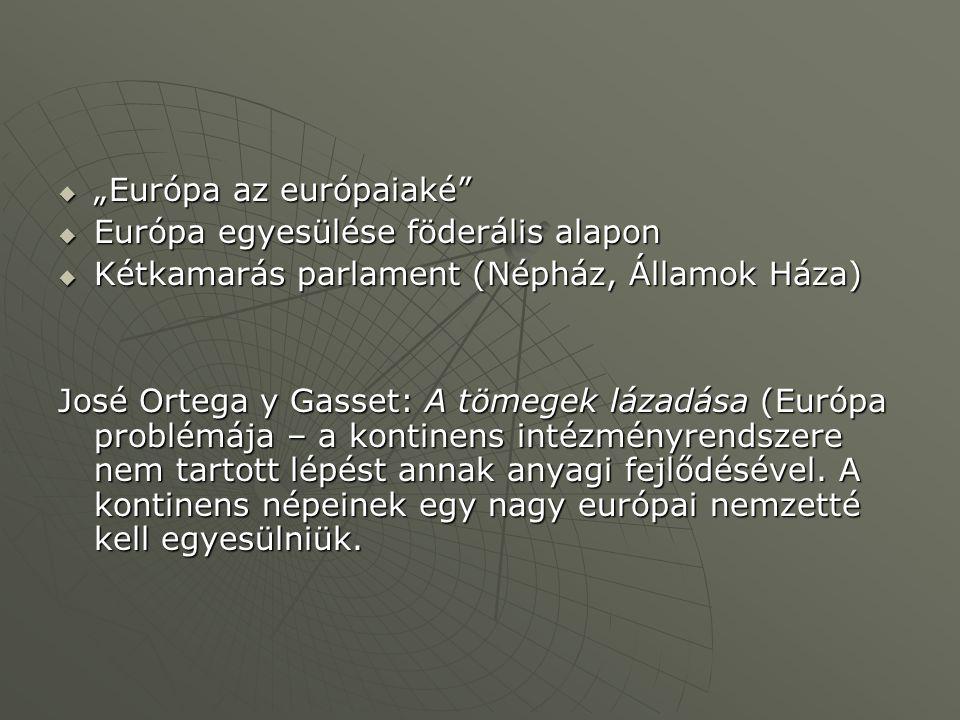 """Európa az európaiaké"