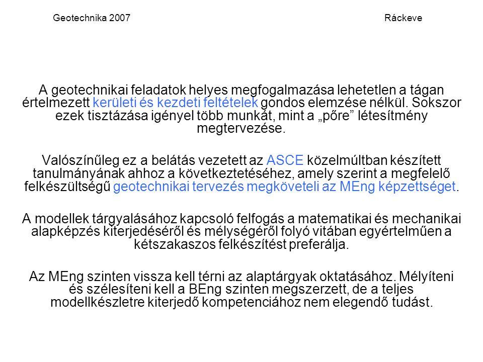 Geotechnika 2007 Ráckeve