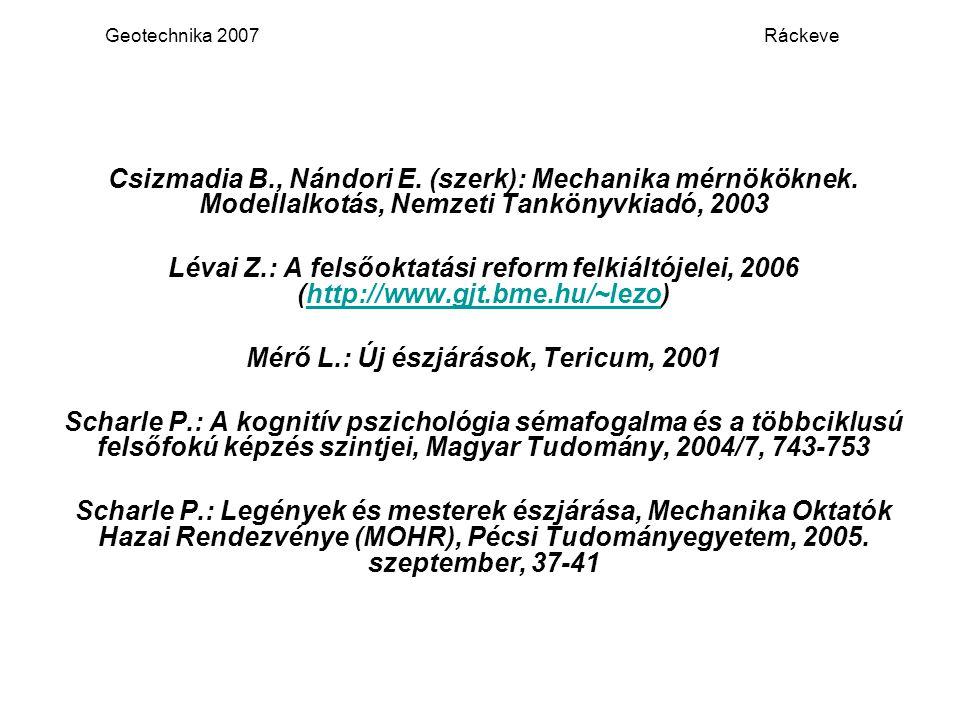 Mérő L.: Új észjárások, Tericum, 2001