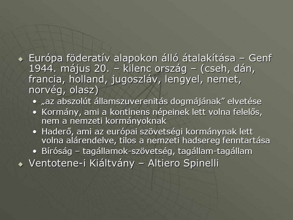 Ventotene-i Kiáltvány – Altiero Spinelli