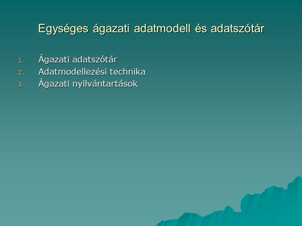 Egységes ágazati adatmodell és adatszótár