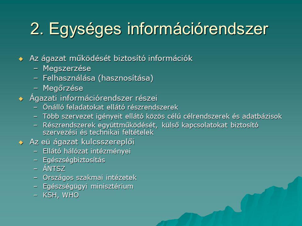 2. Egységes információrendszer