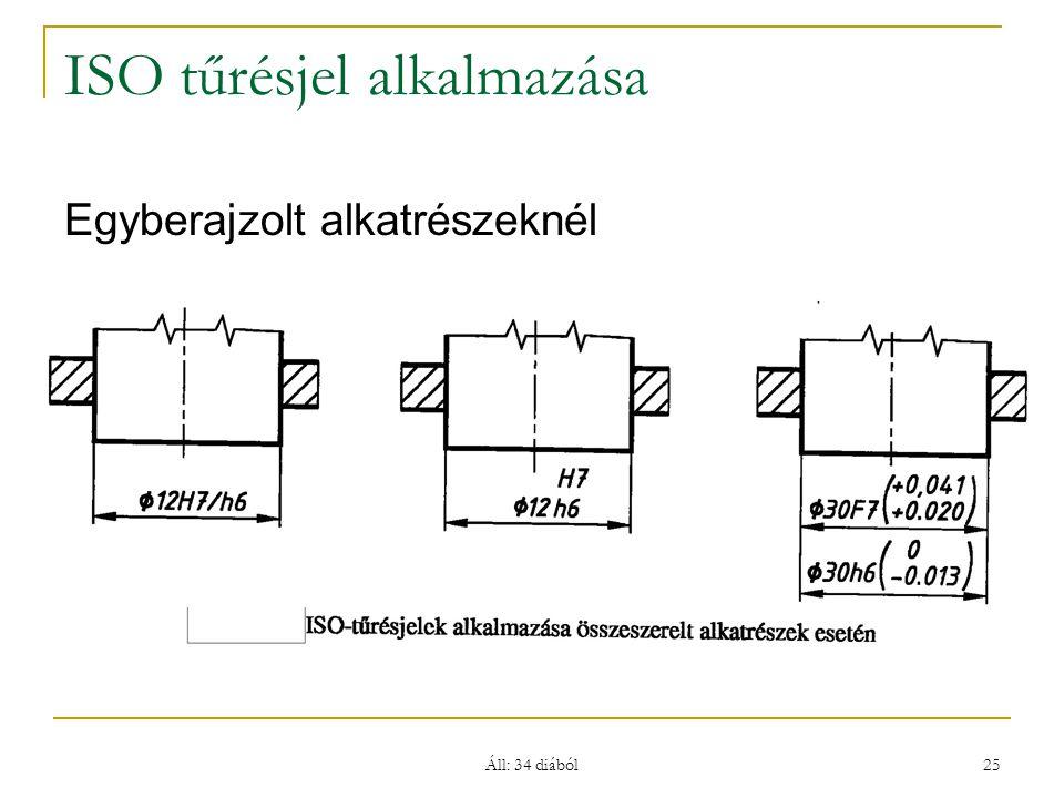 ISO tűrésjel alkalmazása