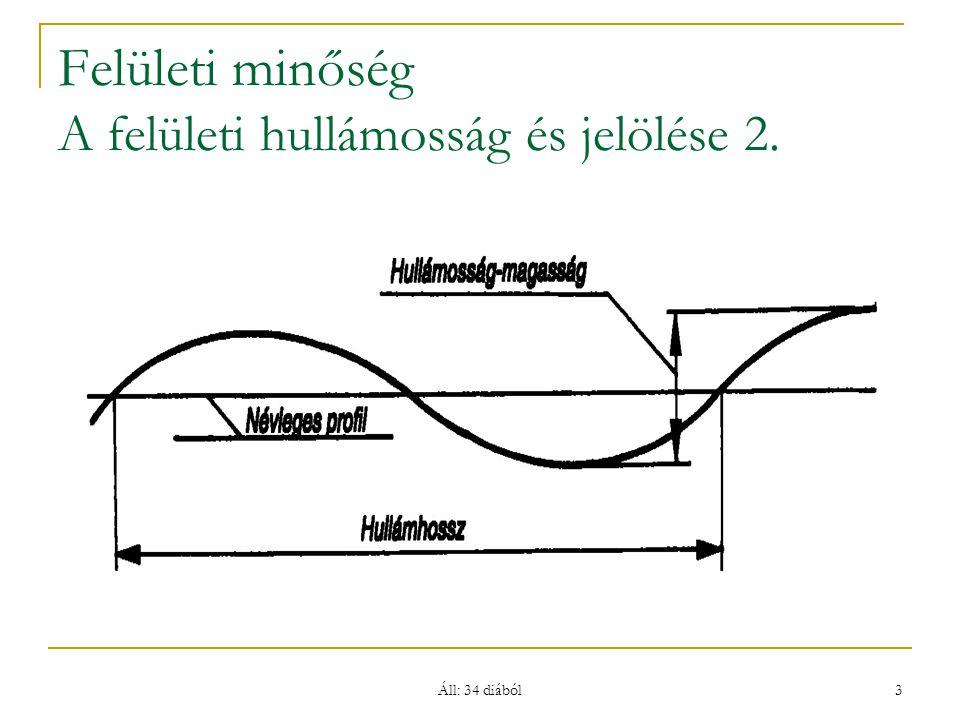 Felületi minőség A felületi hullámosság és jelölése 2.