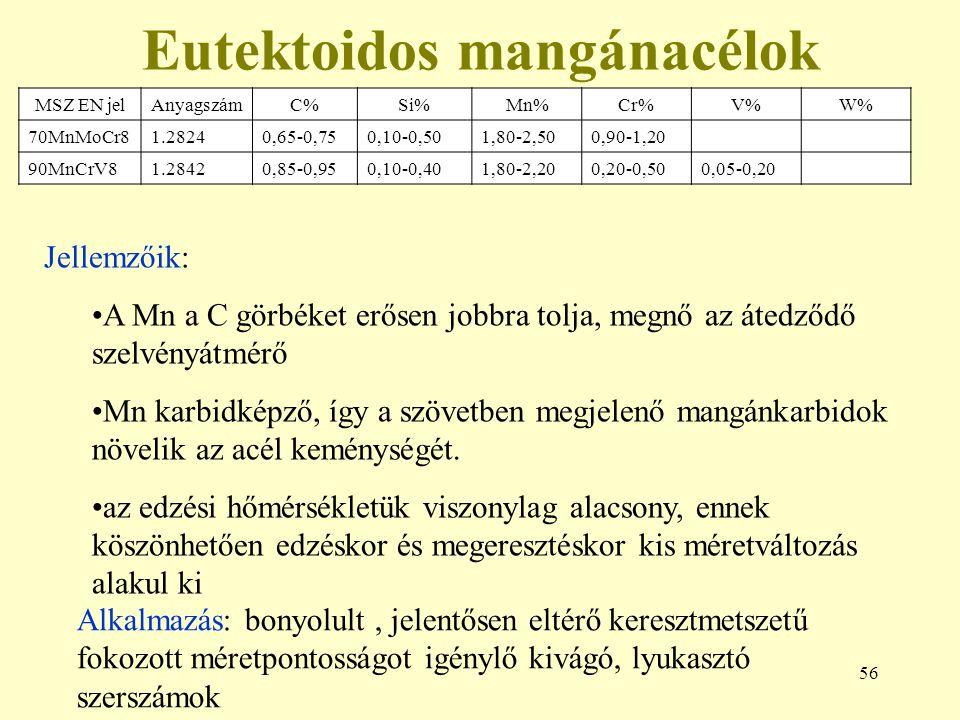 Eutektoidos mangánacélok