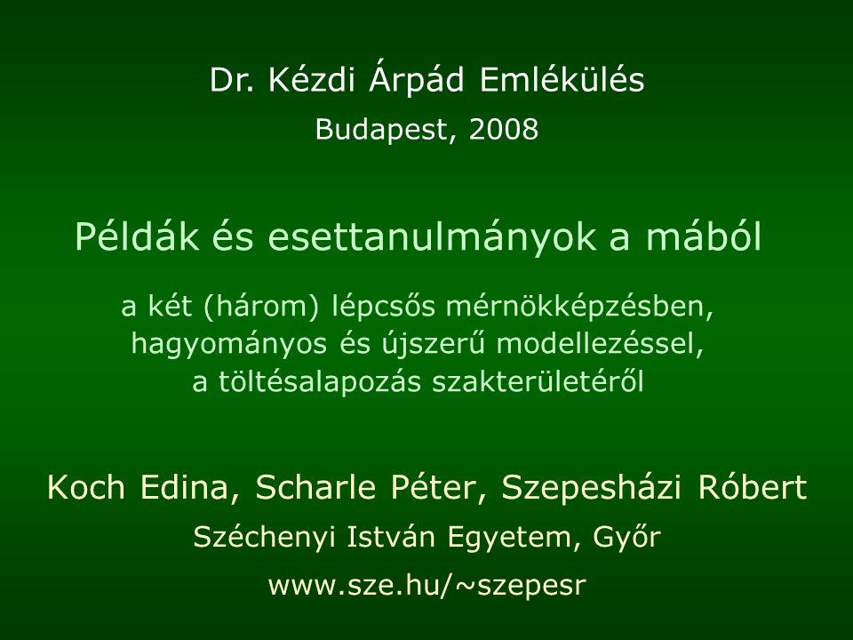 Dr. Kézdi Árpád Emlékülés