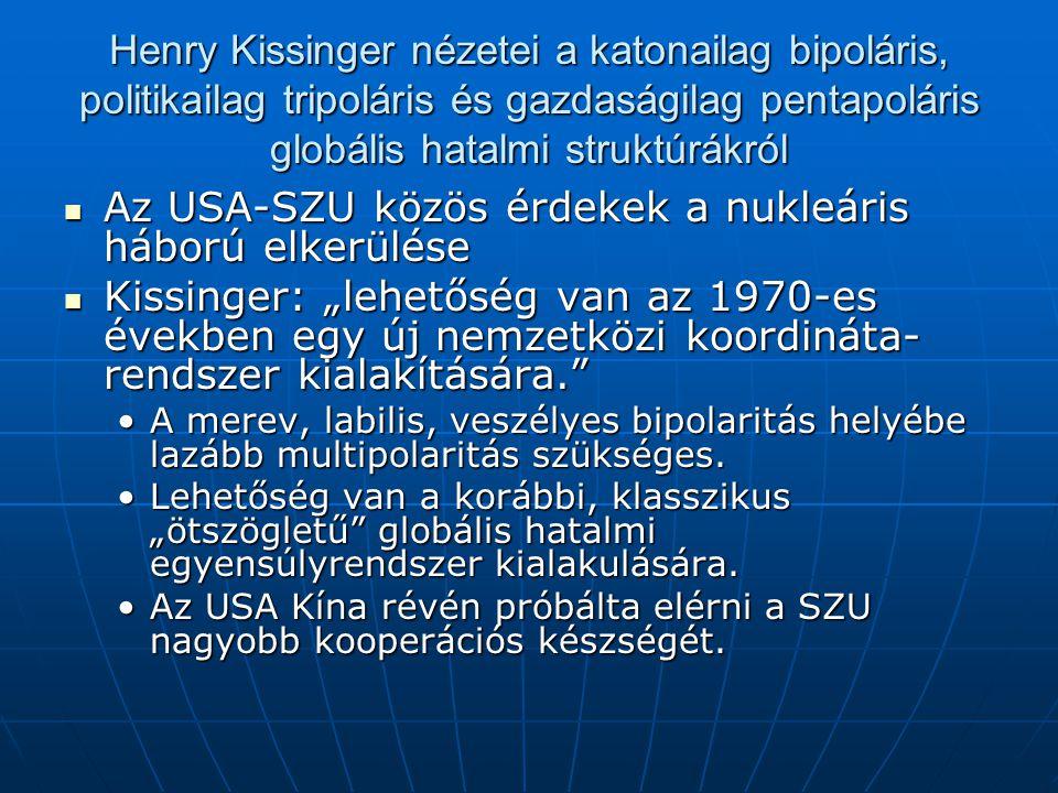 Az USA-SZU közös érdekek a nukleáris háború elkerülése