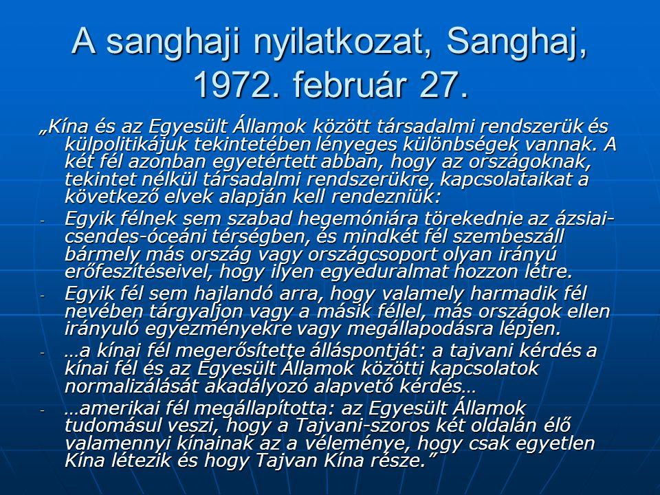 A sanghaji nyilatkozat, Sanghaj, 1972. február 27.