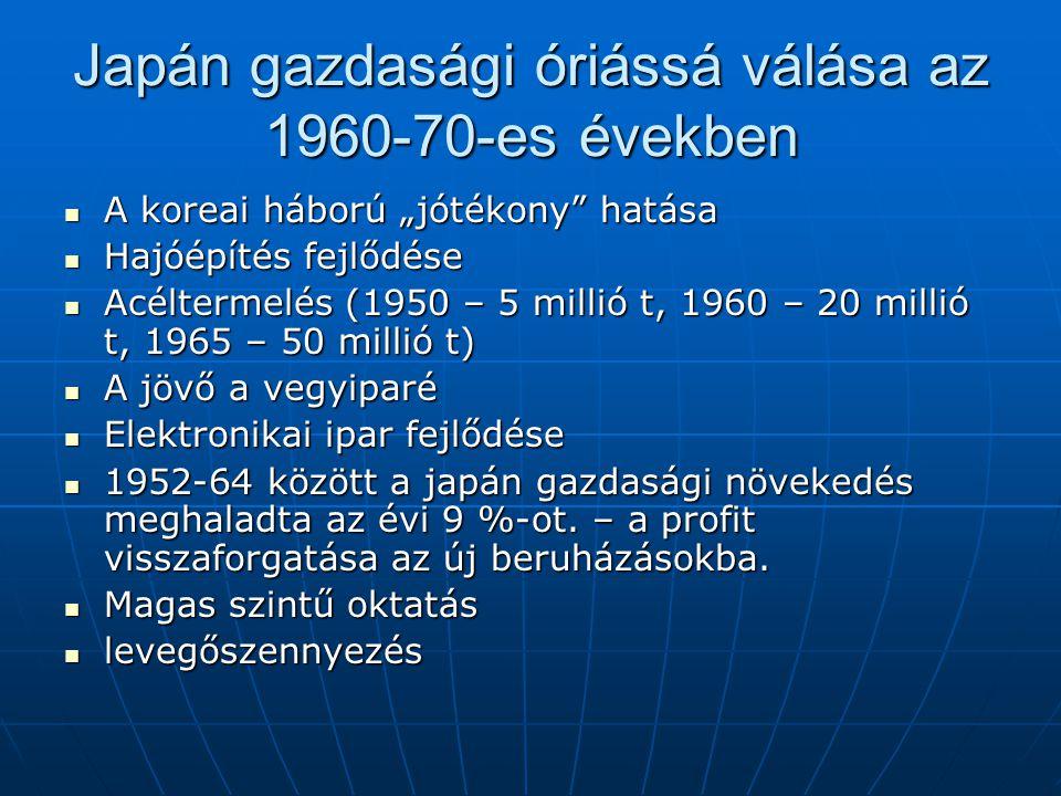 Japán gazdasági óriássá válása az 1960-70-es években