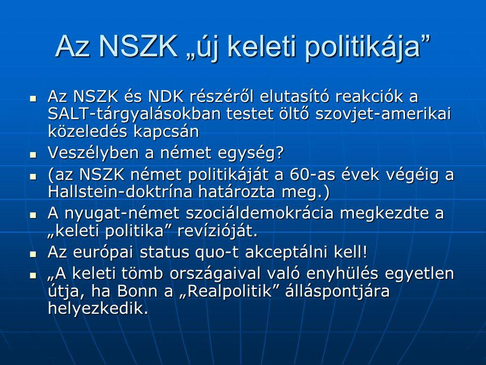 """Az NSZK """"új keleti politikája"""