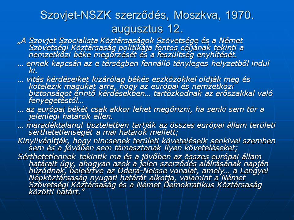 Szovjet-NSZK szerződés, Moszkva, 1970. augusztus 12.