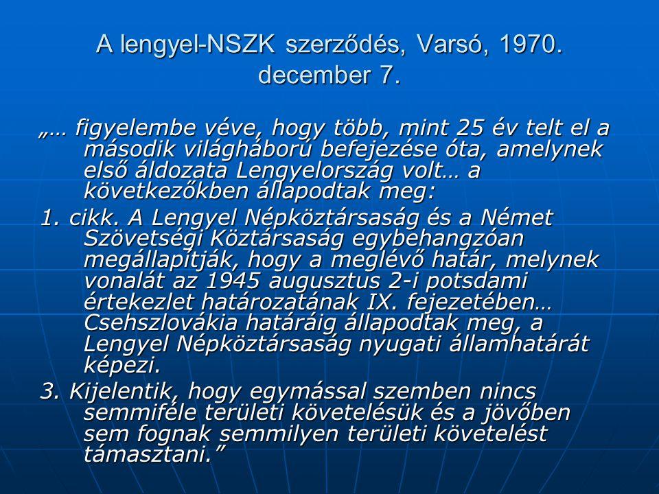 A lengyel-NSZK szerződés, Varsó, 1970. december 7.