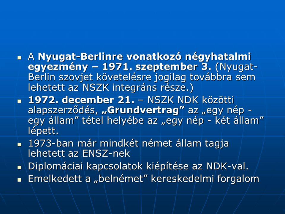 A Nyugat-Berlinre vonatkozó négyhatalmi egyezmény – 1971. szeptember 3