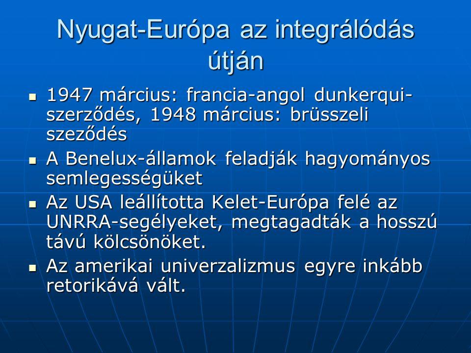 Nyugat-Európa az integrálódás útján