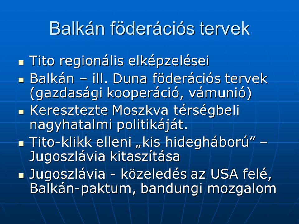 Balkán föderációs tervek