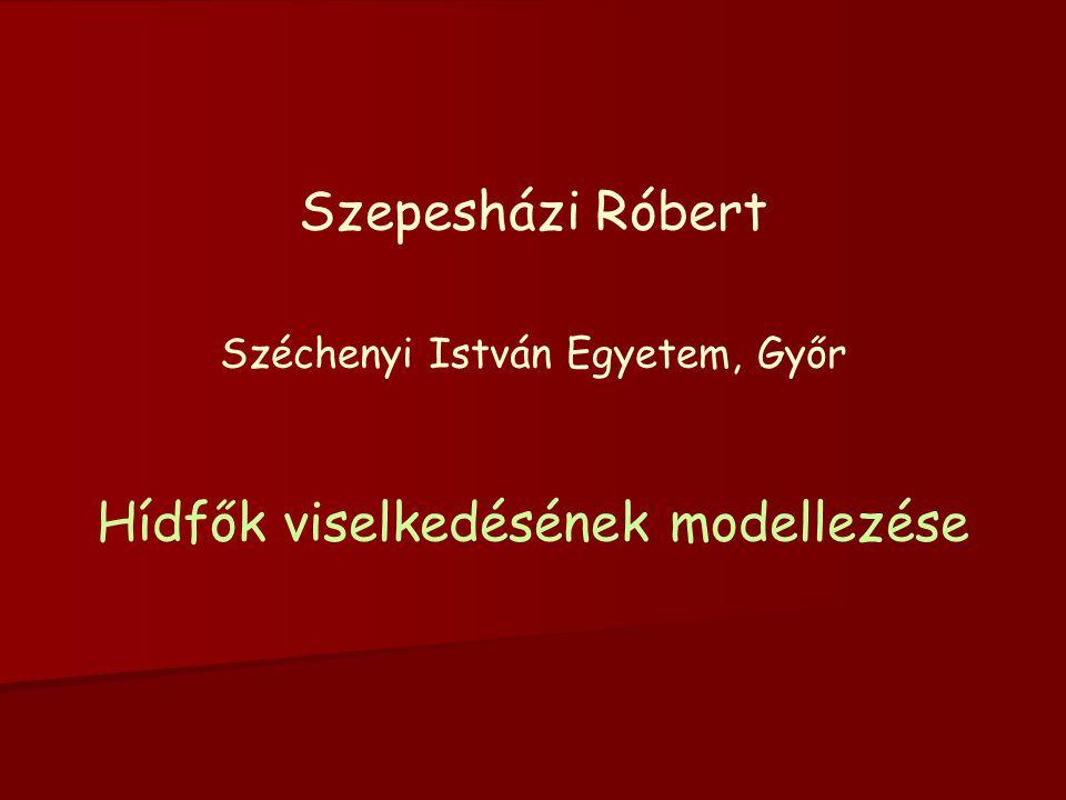 Szepesházi Róbert Széchenyi István Egyetem, Győr