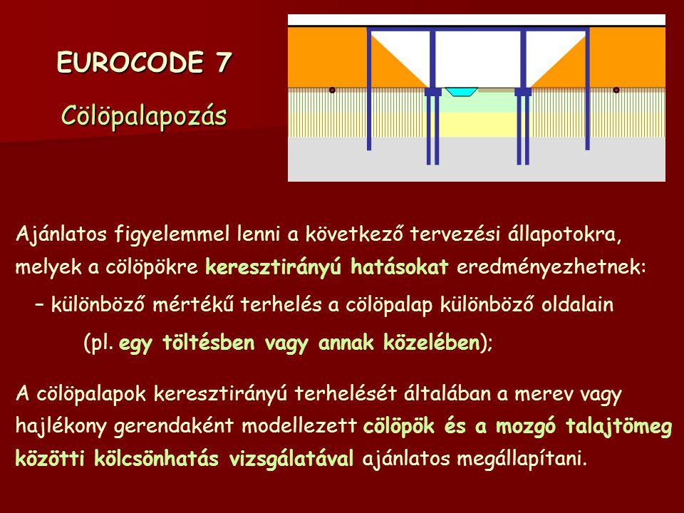 EUROCODE 7 Cölöpalapozás