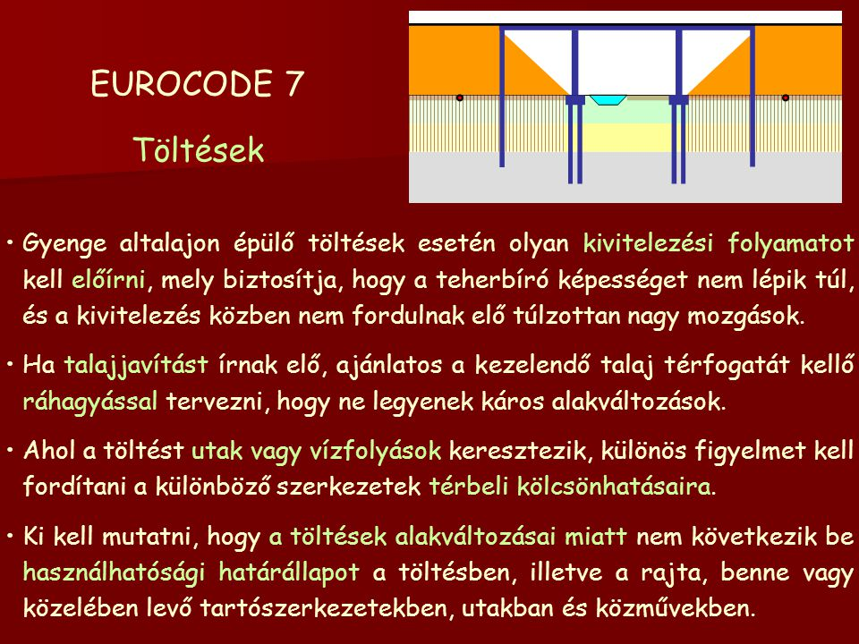 EUROCODE 7 Töltések