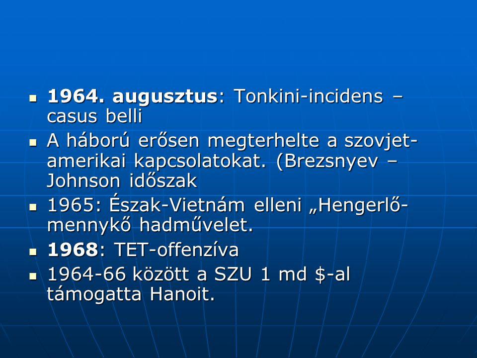 1964. augusztus: Tonkini-incidens – casus belli