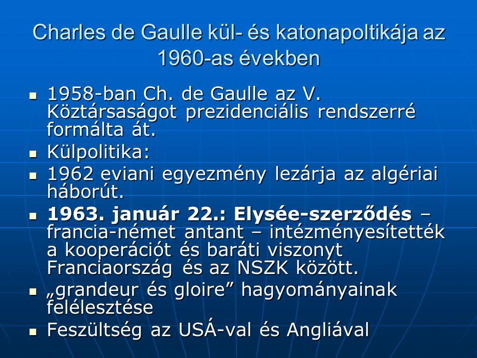 Charles de Gaulle kül- és katonapoltikája az 1960-as években