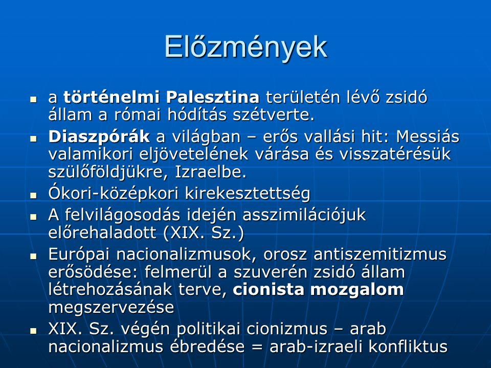 Előzmények a történelmi Palesztina területén lévő zsidó állam a római hódítás szétverte.