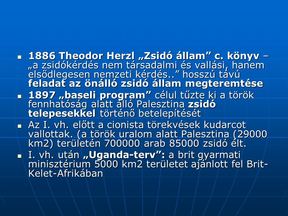 "1886 Theodor Herzl ""Zsidó állam c"