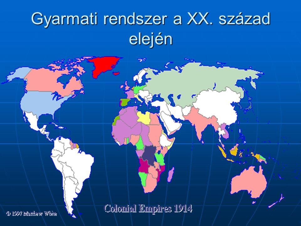Gyarmati rendszer a XX. század elején