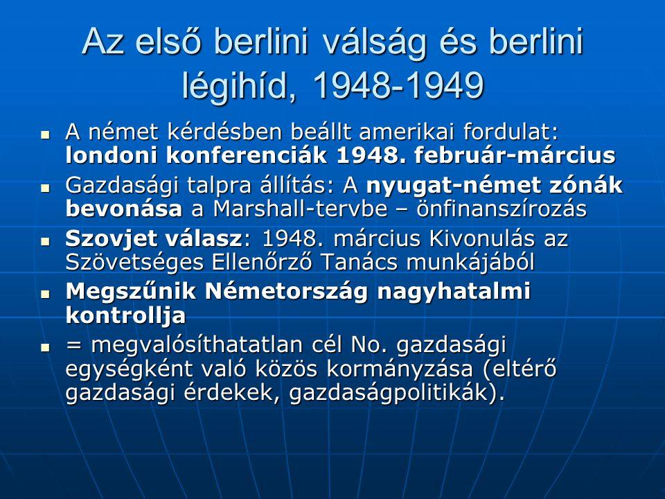 Az első berlini válság és berlini légihíd, 1948-1949