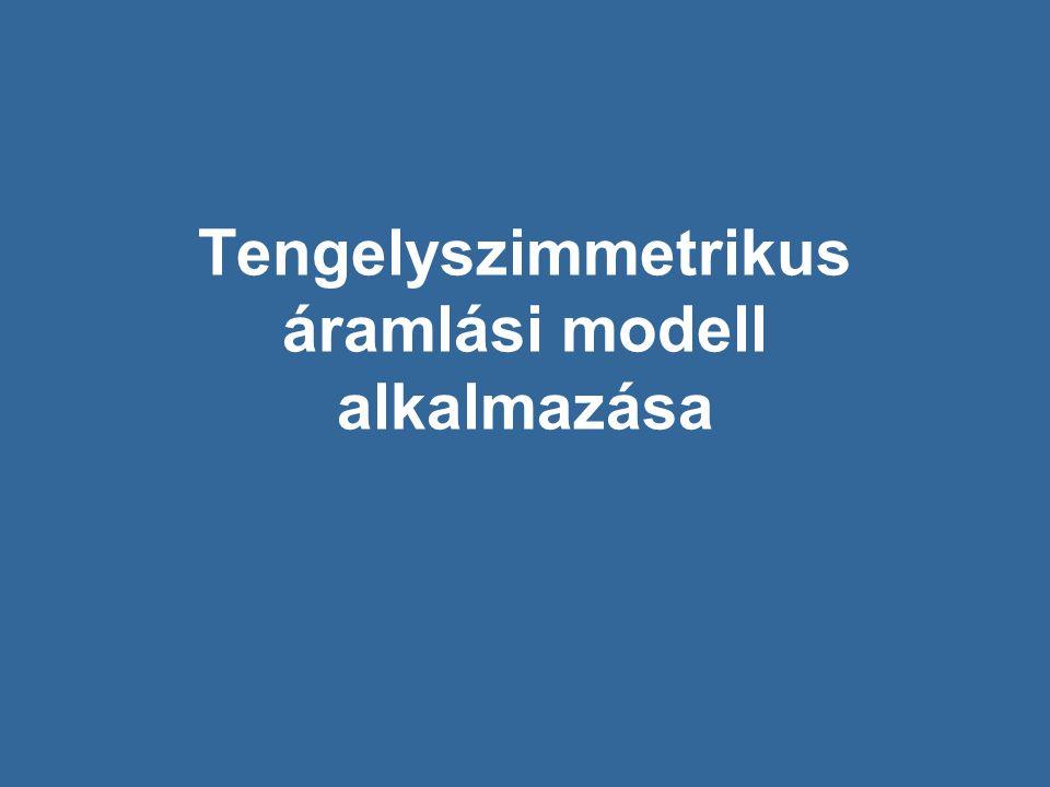 Tengelyszimmetrikus áramlási modell alkalmazása