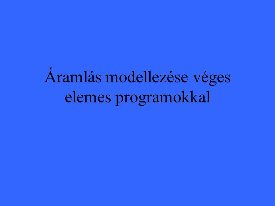 Áramlás modellezése véges elemes programokkal