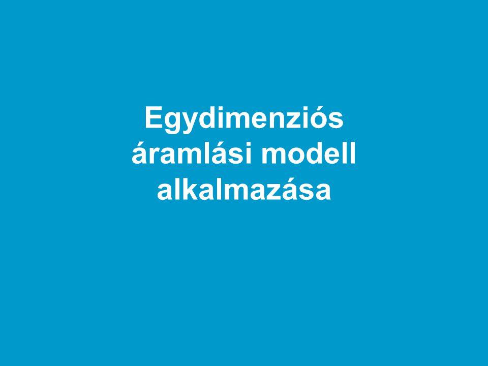 Egydimenziós áramlási modell alkalmazása