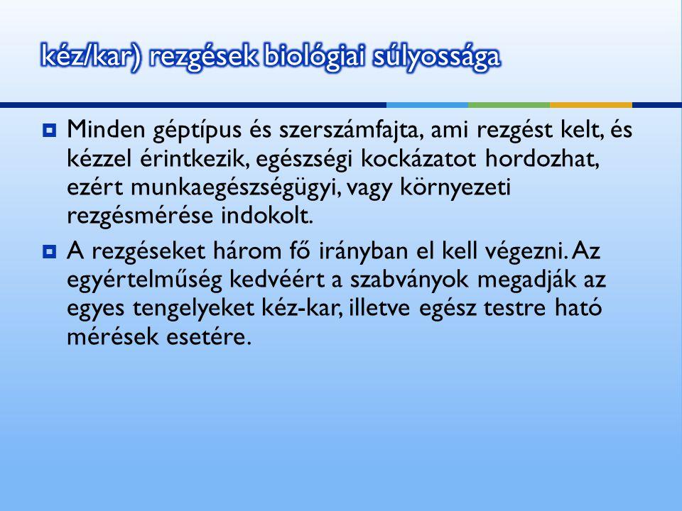 kéz/kar) rezgések biológiai súlyossága