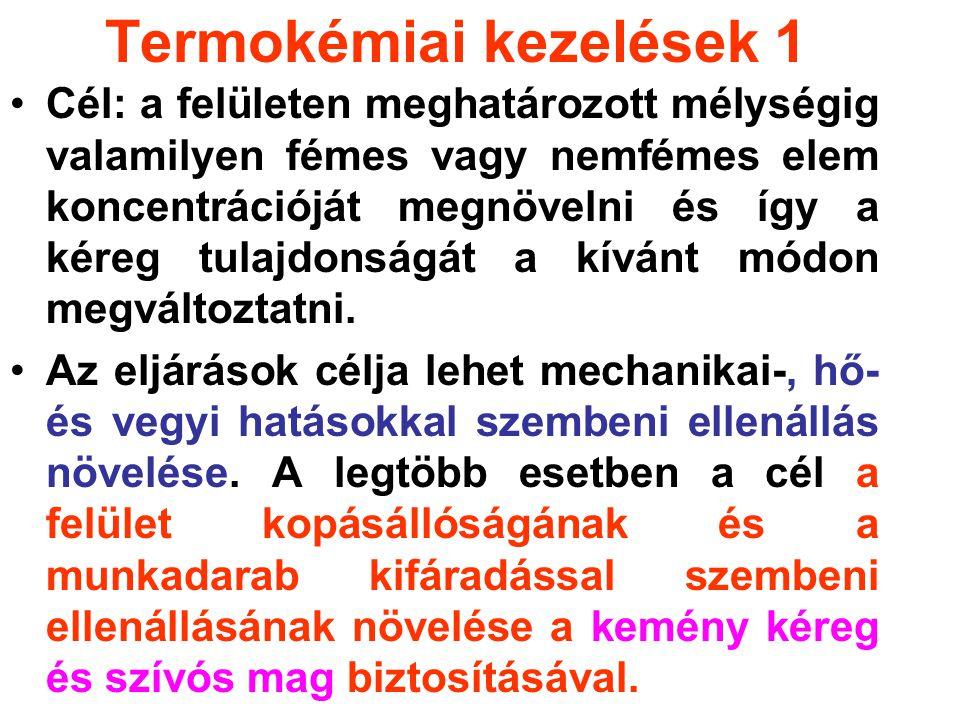 Termokémiai kezelések 1