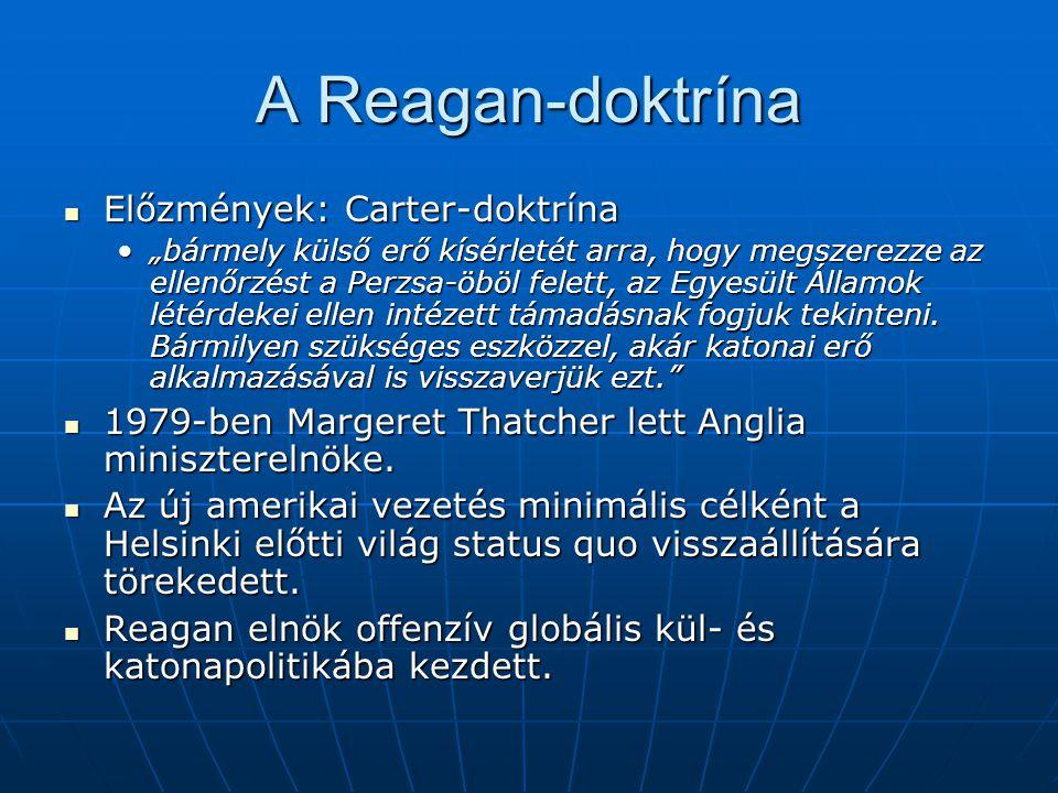 A Reagan-doktrína Előzmények: Carter-doktrína