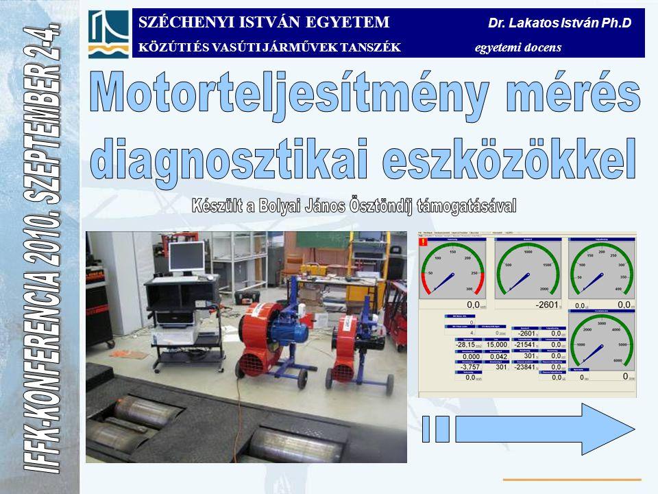 Motorteljesítmény mérés