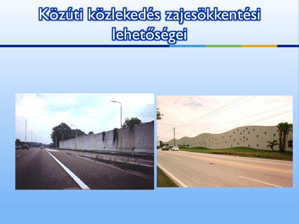 Közúti közlekedés zajcsökkentési lehetőségei