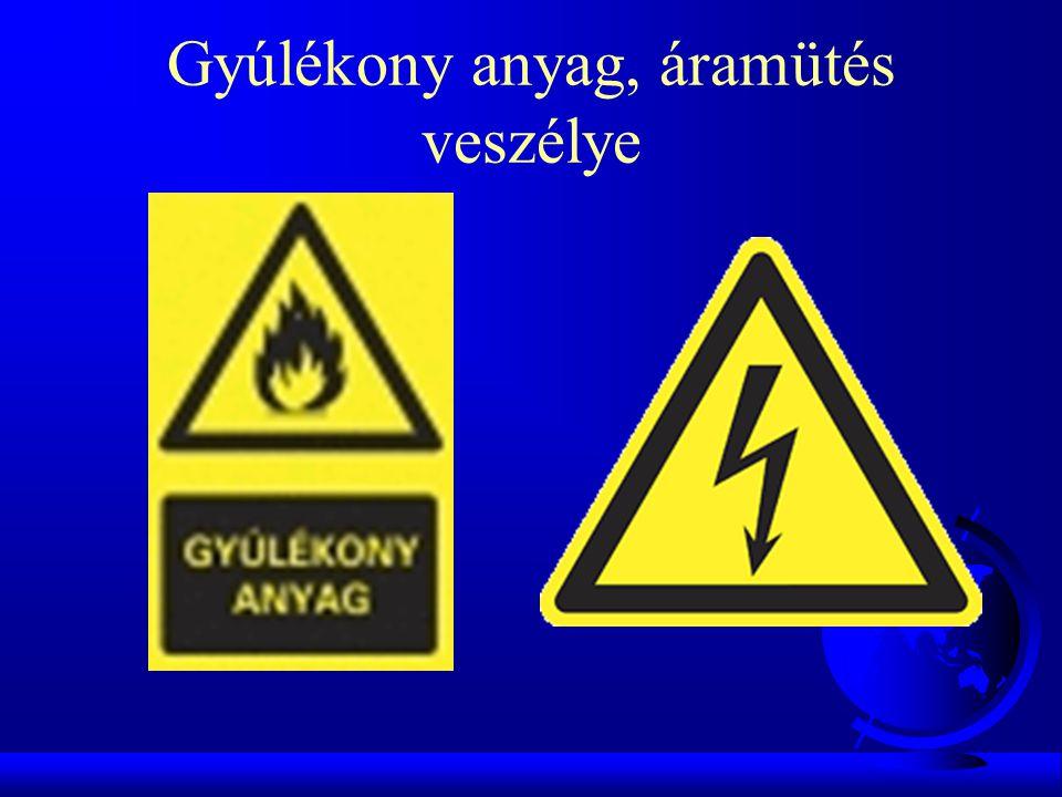Gyúlékony anyag, áramütés veszélye