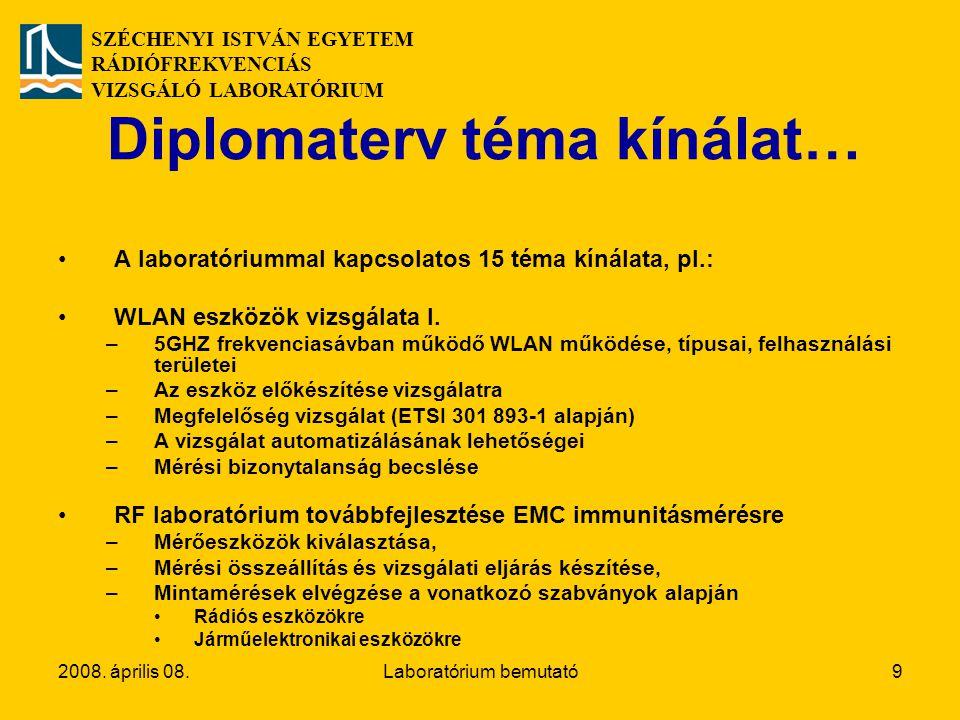 Diplomaterv téma kínálat…