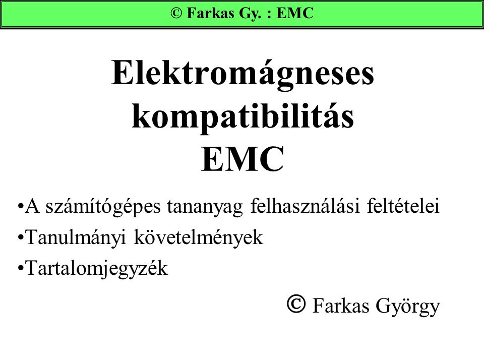 Elektromágneses kompatibilitás EMC