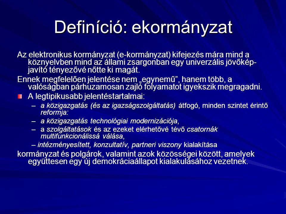 Definíció: ekormányzat