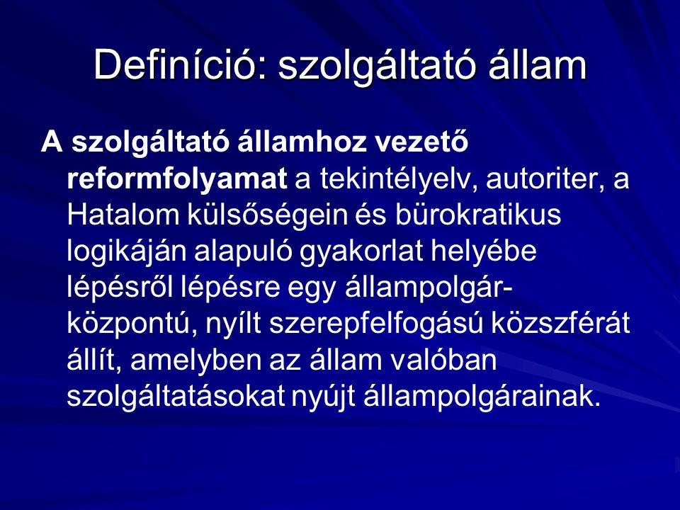 Definíció: szolgáltató állam