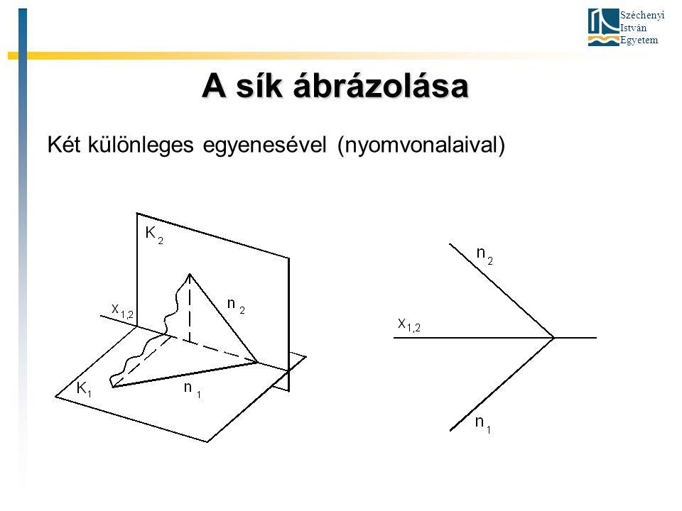 A sík ábrázolása Két különleges egyenesével (nyomvonalaival)