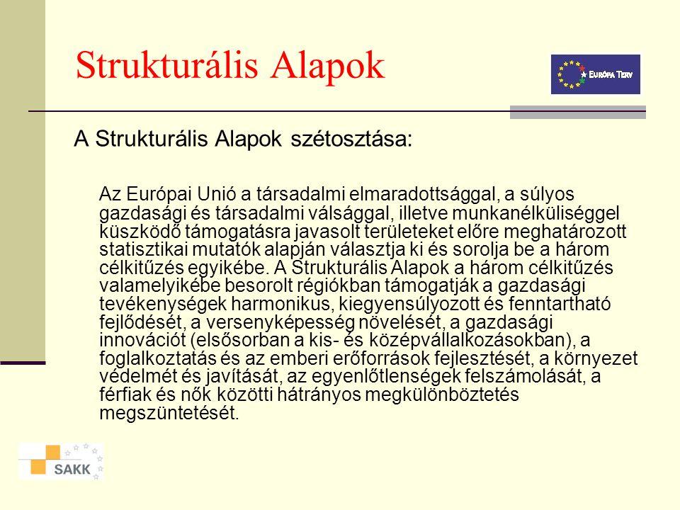 Strukturális Alapok A Strukturális Alapok szétosztása: